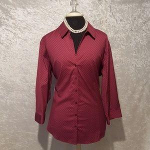 Eddie Bauer fitted women's button up shirt - 2XL